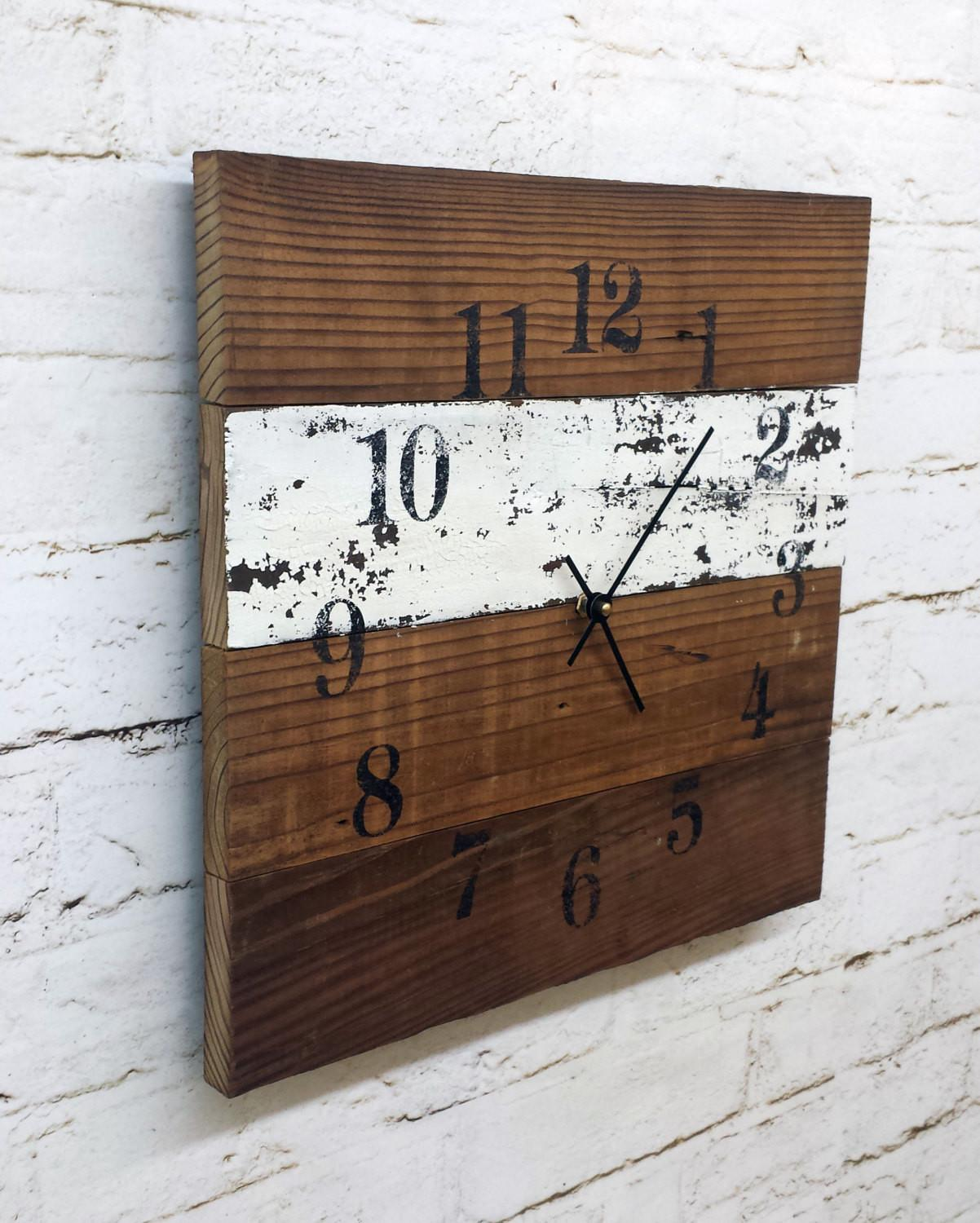 Reclaimed Barn Wood Clock Recycled Like Pallet