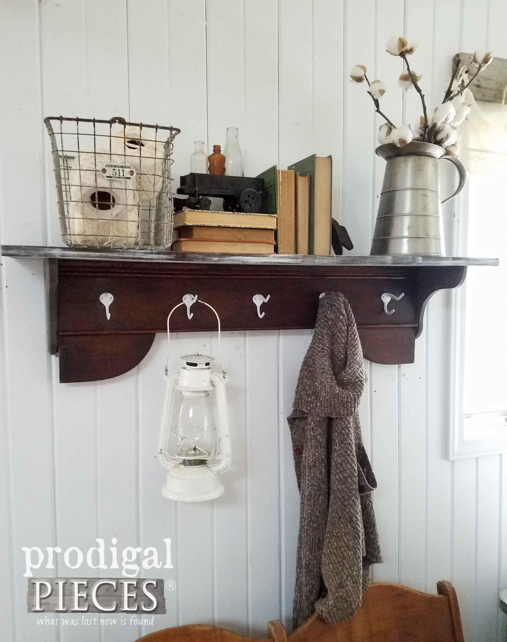 Reclaimed Coat Rack Towel Shelf Prodigal Pieces