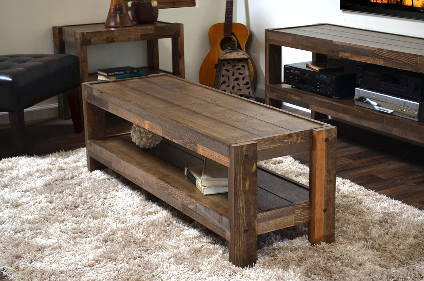 Reclaimed Coffee Table Pallet Wood Barn Style
