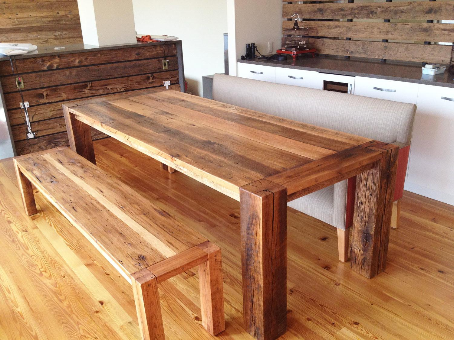 Reclaimed Diy Wood Dining Furniture Small Space