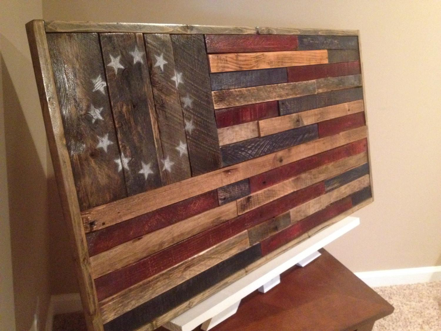 Reclaimed Wood American Flaghandmade Flagrustic Home