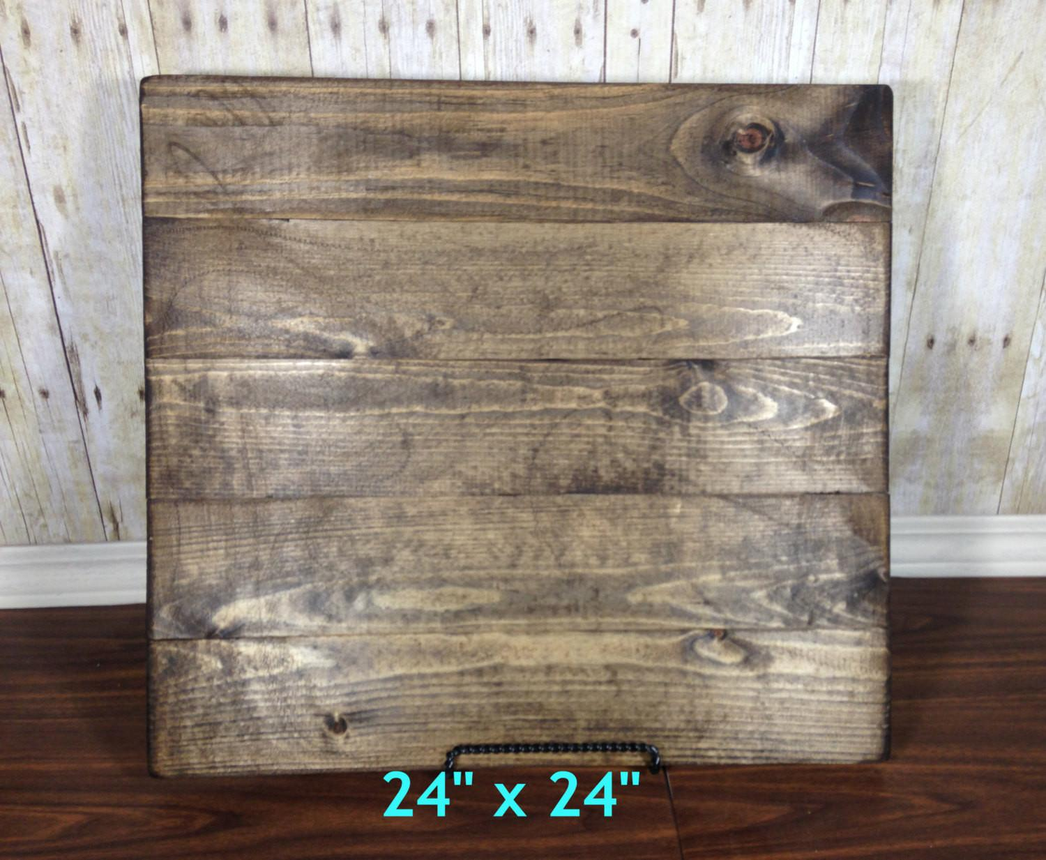 Reclaimed Wood Blank Canvas Make Your