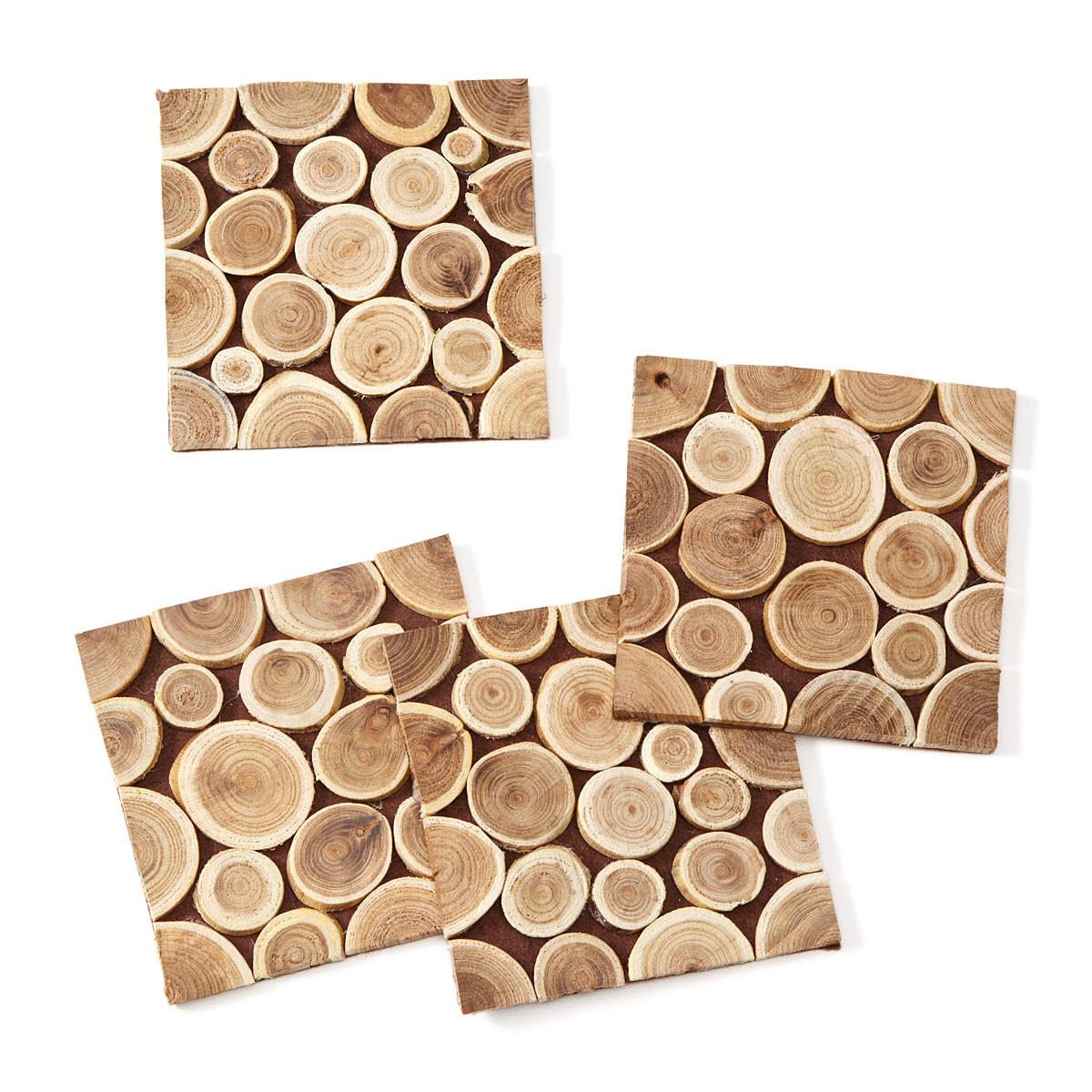 Reclaimed Wood Branch Coasters Set Twig Branches