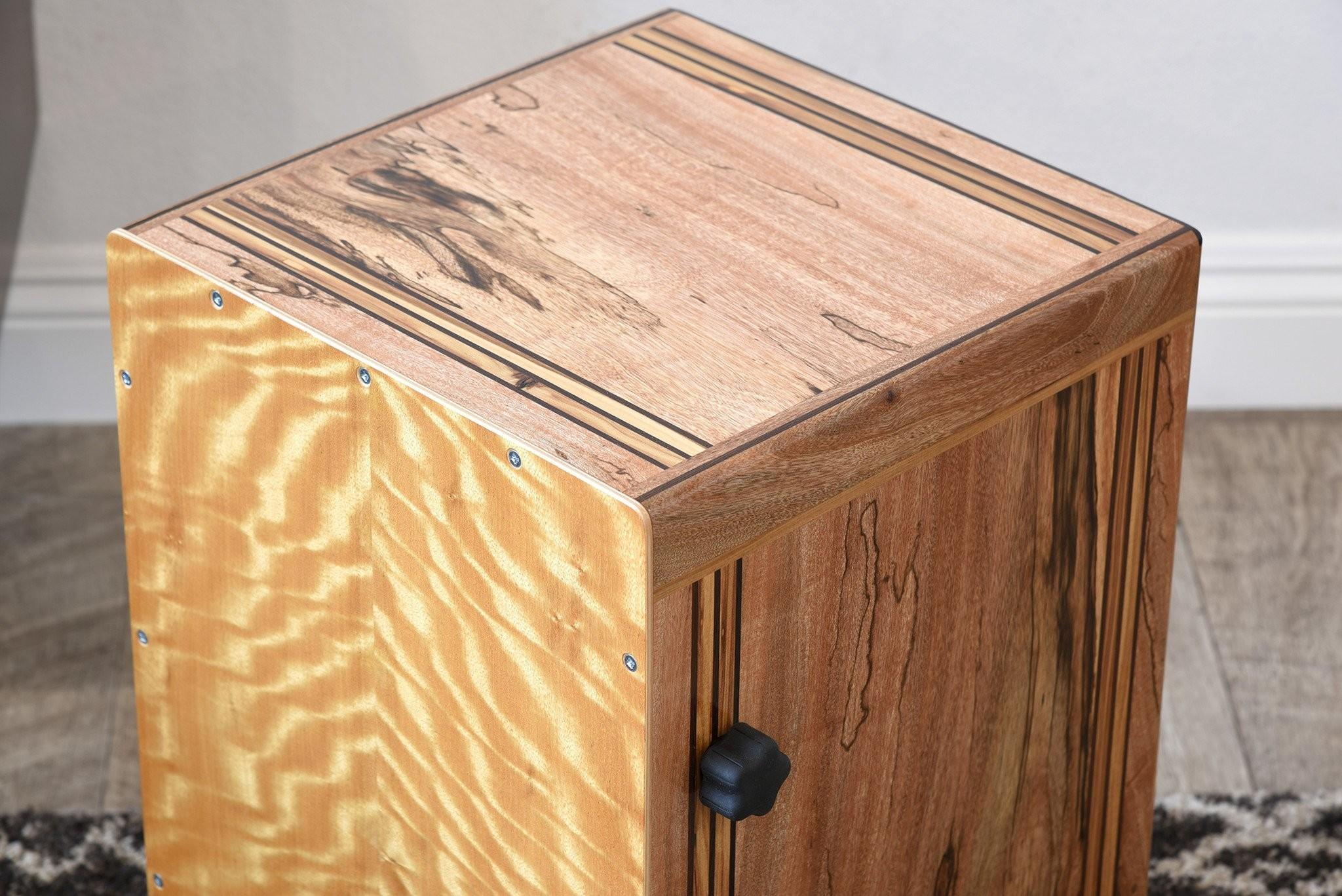 Reclaimed Wood Cajon Drum Handmade Woodwaves