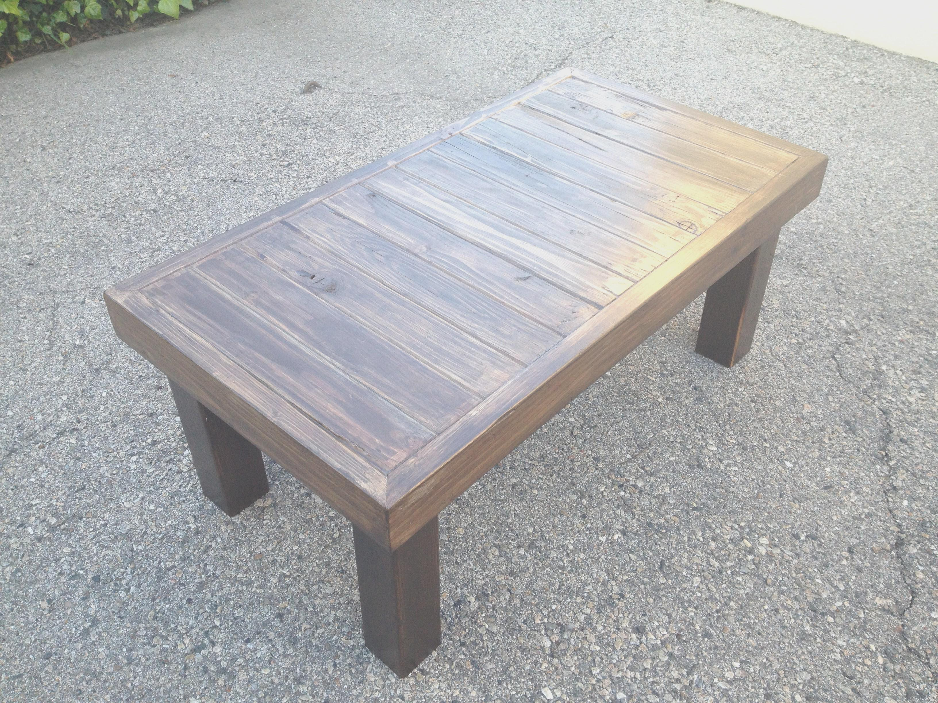 Reclaimed Wood Coffee Table Diy