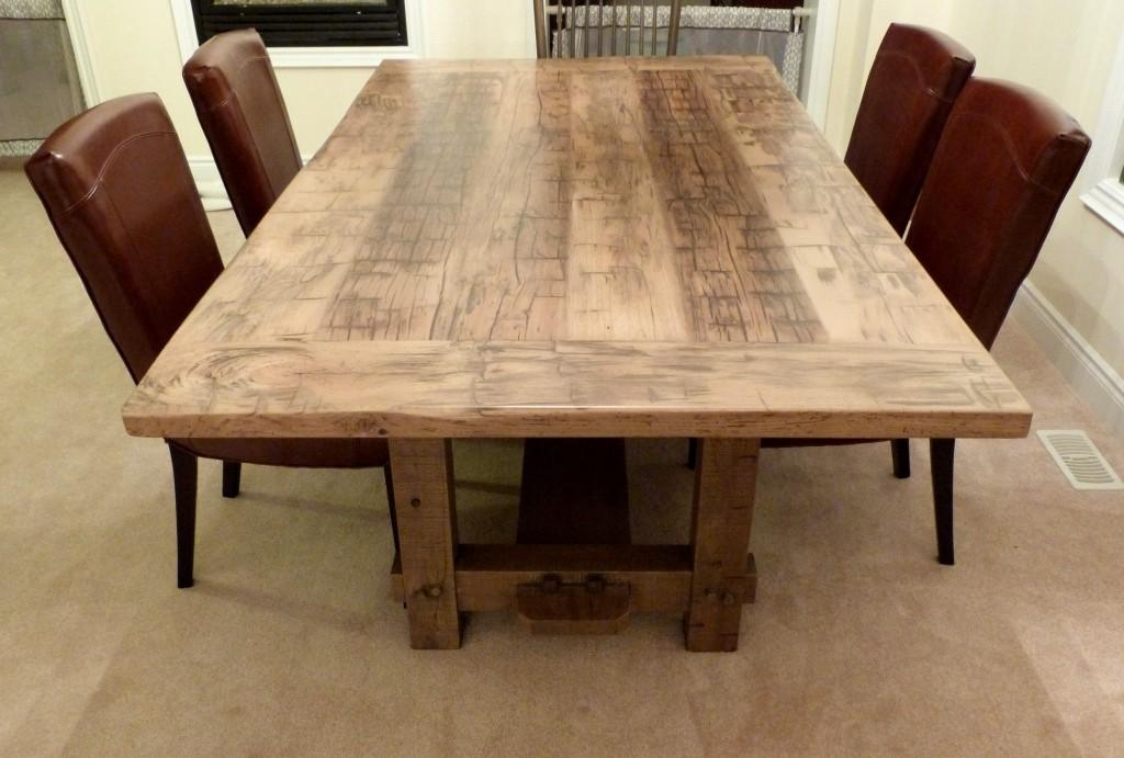 Reclaimed Wood Dining Room Table Good Furniture Lovely