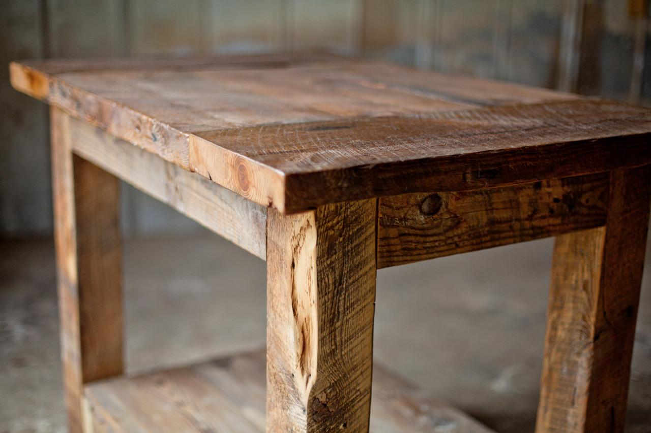 Reclaimed Wood Kitchen Island Farm