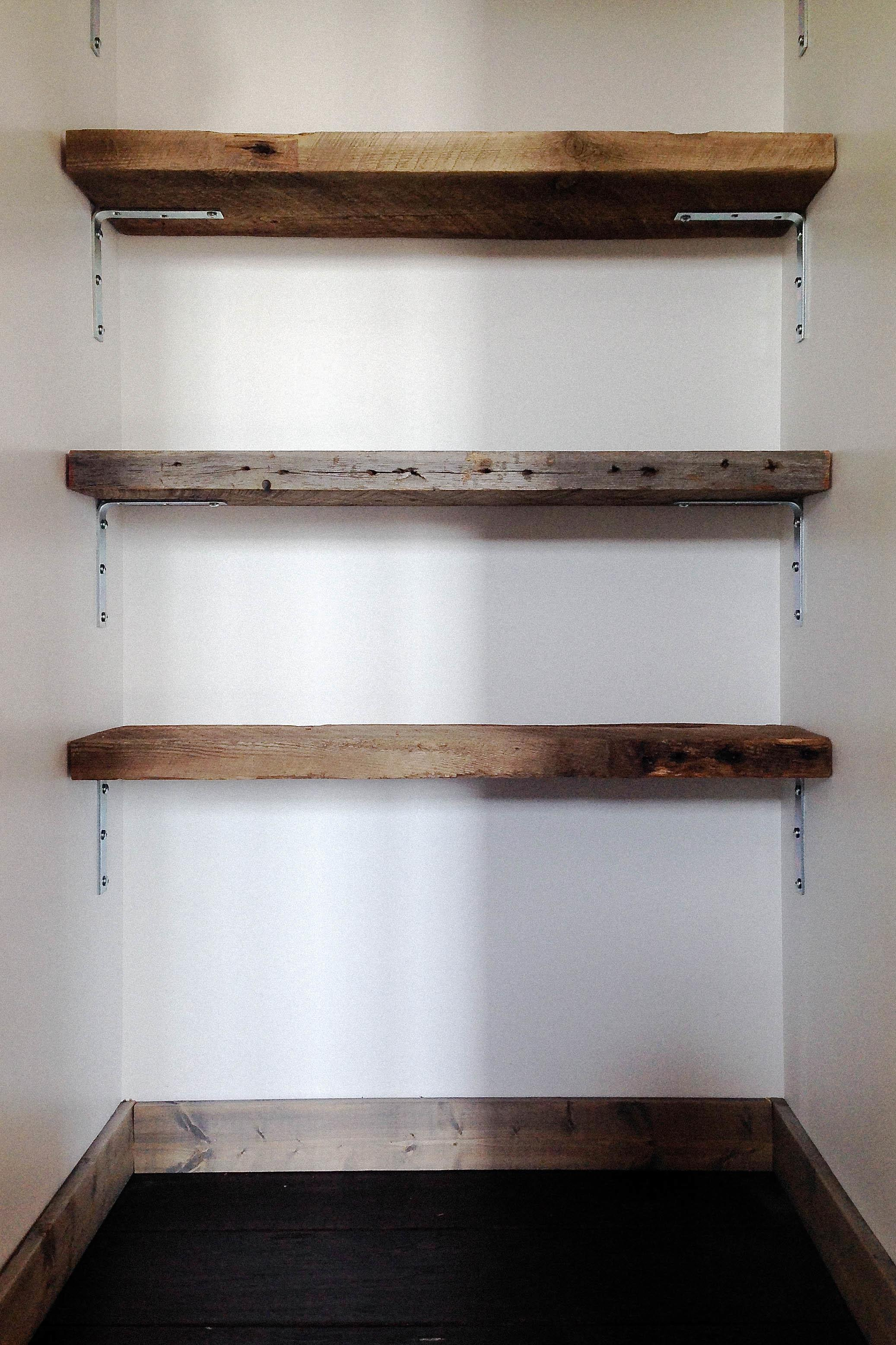 Reclaimed Wood Shelving Diy Hello Scarlett Blog