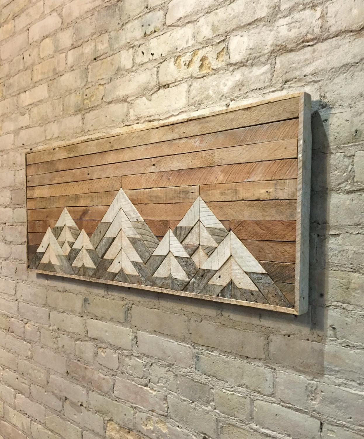 Reclaimed Wood Wall Art Decor Twin Headboard