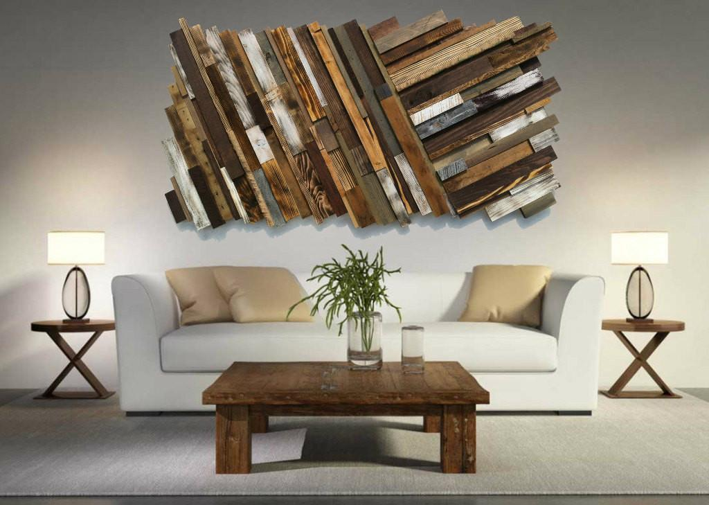 Reclaimed Wood Wall Art Shipping Rustic Abstract