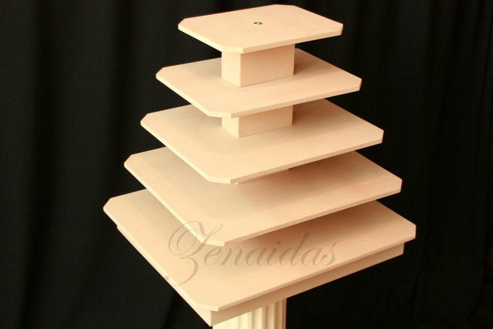 Rectangle Cupcake Stand Tier Rod Mdf Wood