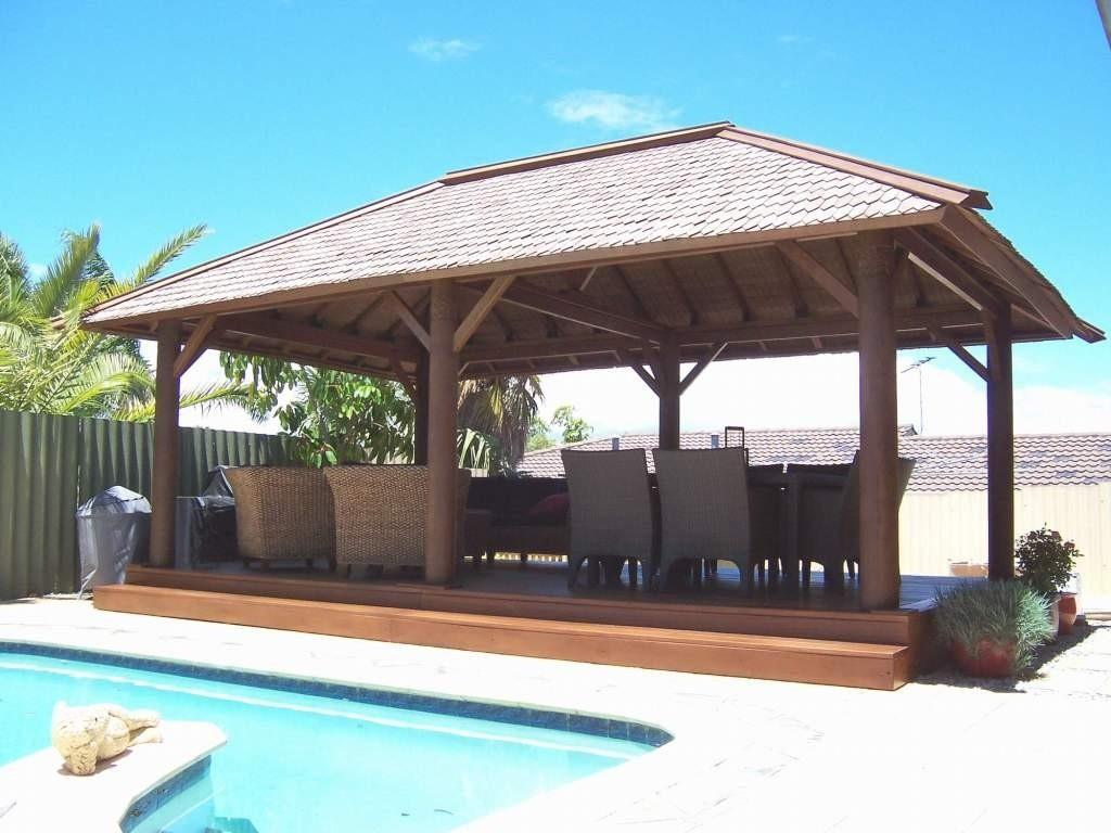 Rectangular Wooden Gazebo Outdoor Wicker Chair