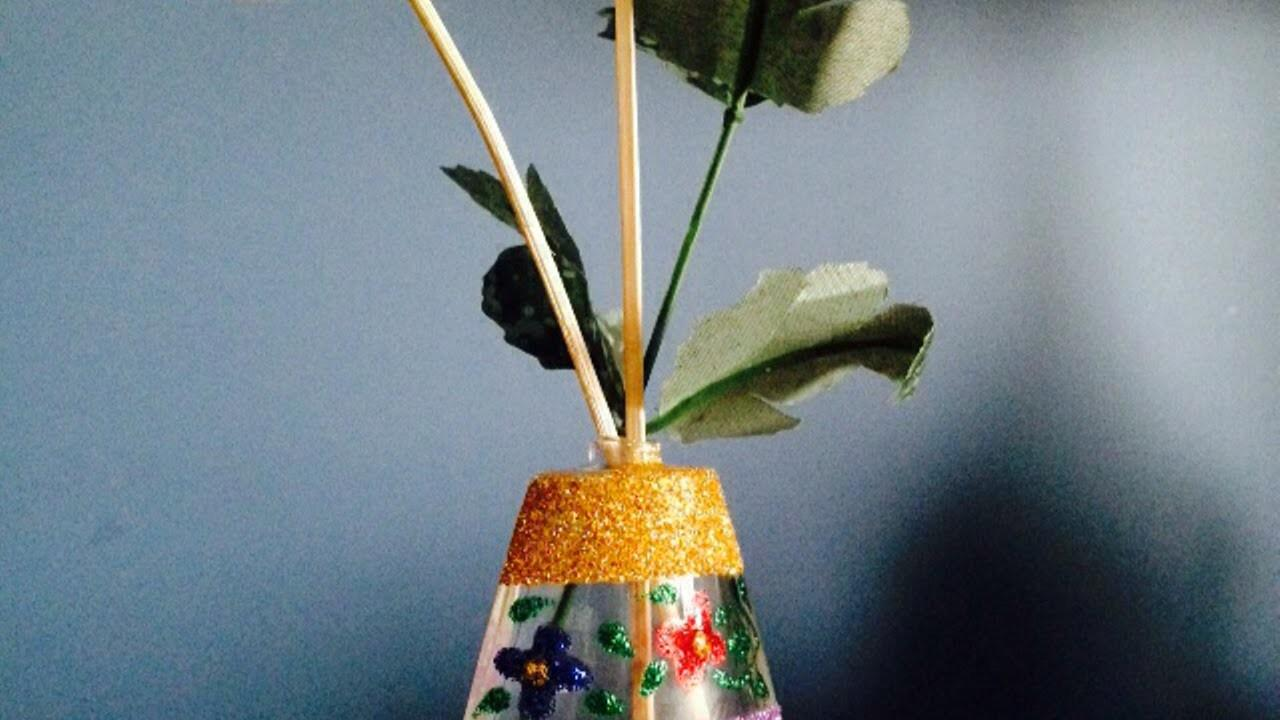 Recycle Old Perfume Bottle Into Vase Diy