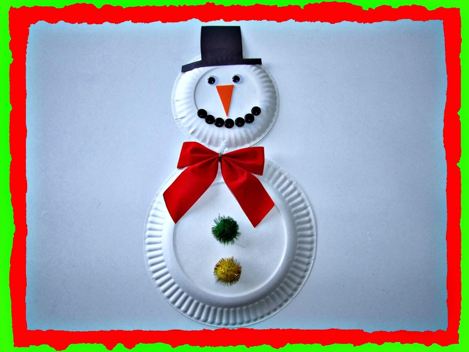 Recycle Recycled Snowman Christmas Decor