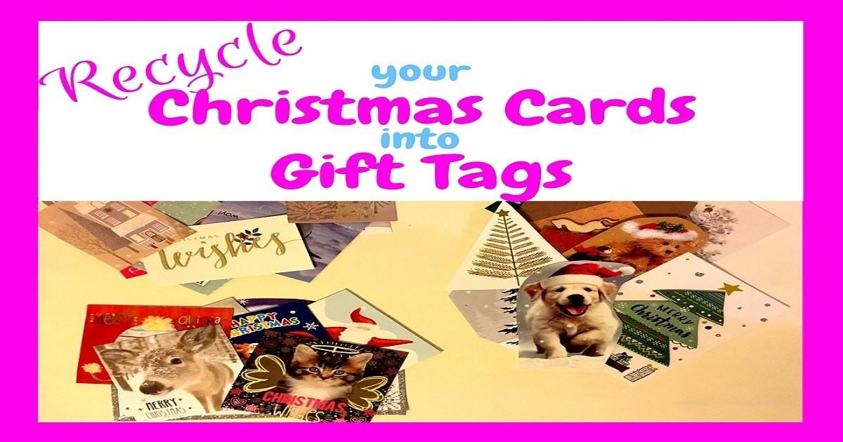 Recycle Your Christmas Card Into Gift Min Money