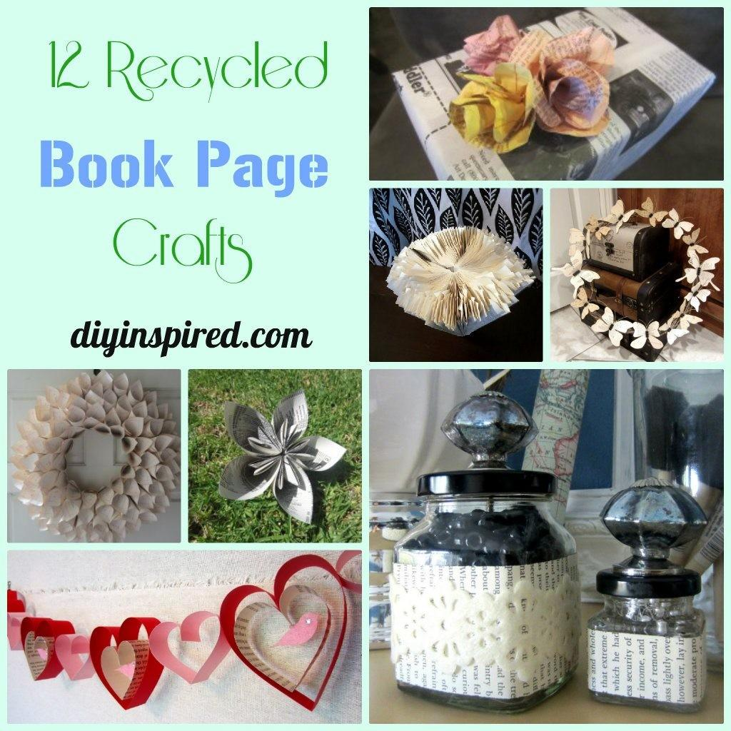 Recycled Book Crafts Diy Inspired