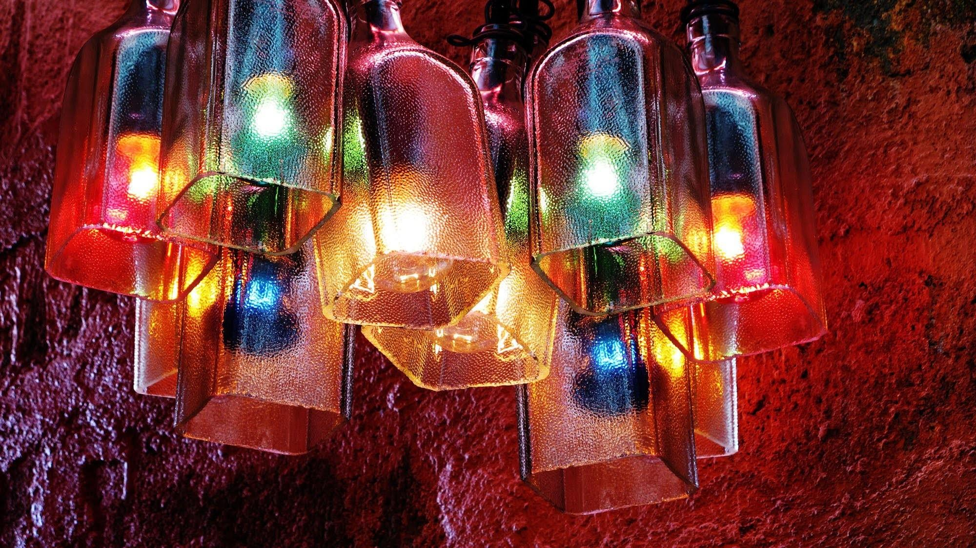 Recycled Bottles Made Into Beautiful Chandelier Easy