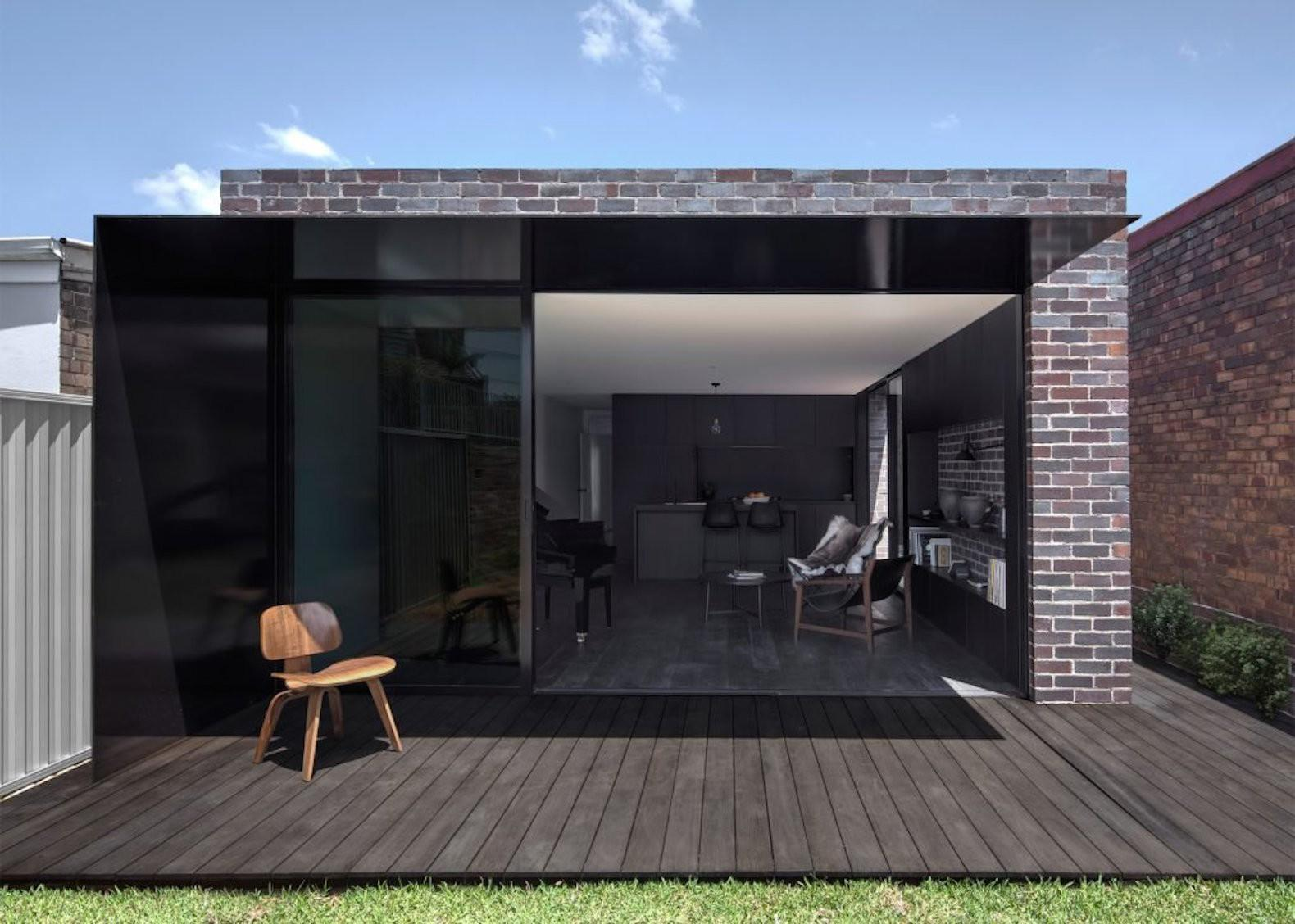 Recycled Bricks Add Rugged Contrast Contemporary