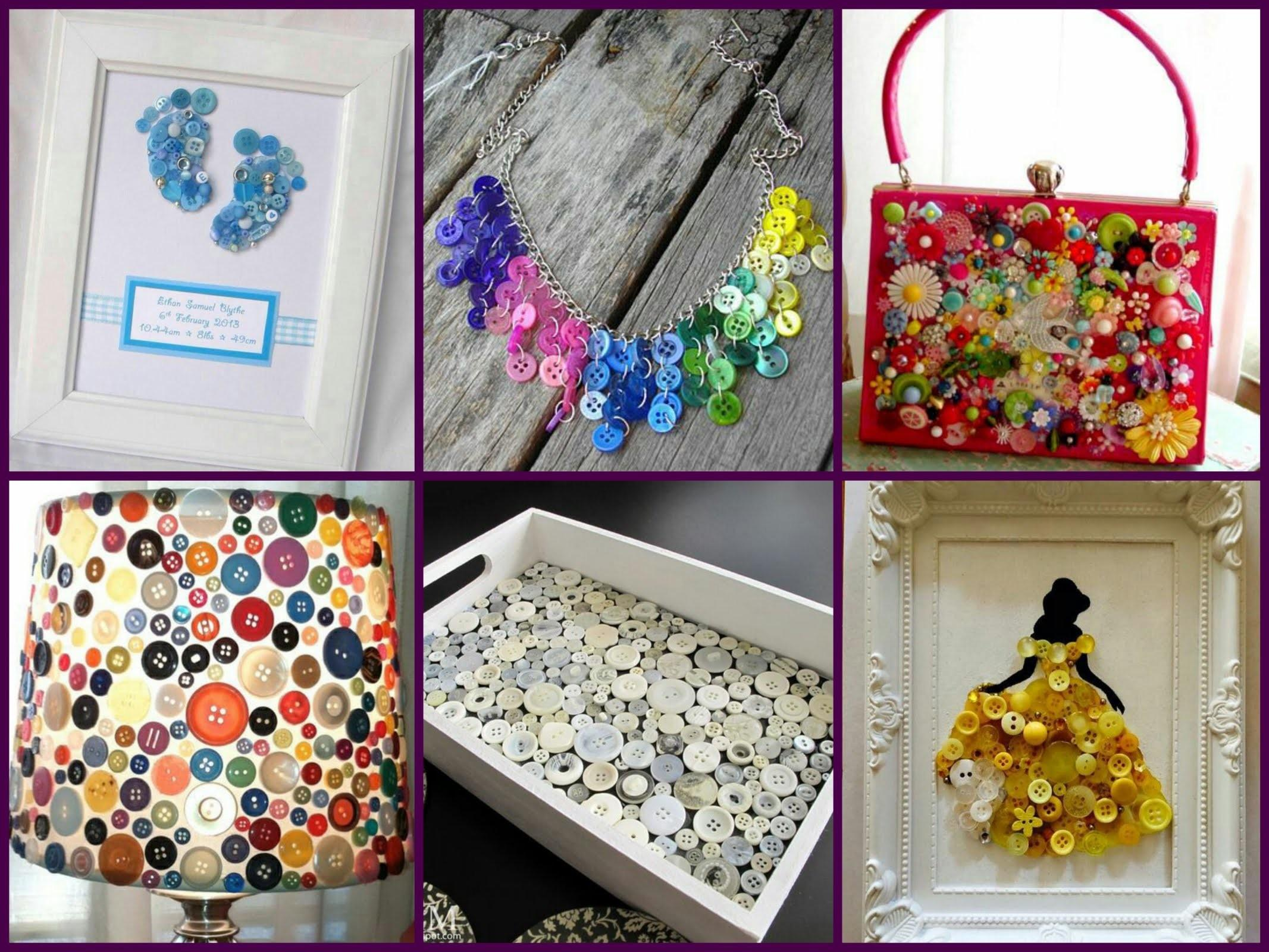 Recycled Button Crafts Ideas Easy Diy Projects