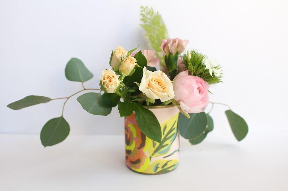 Recycled Can Flower Vase Diy Tinselbox