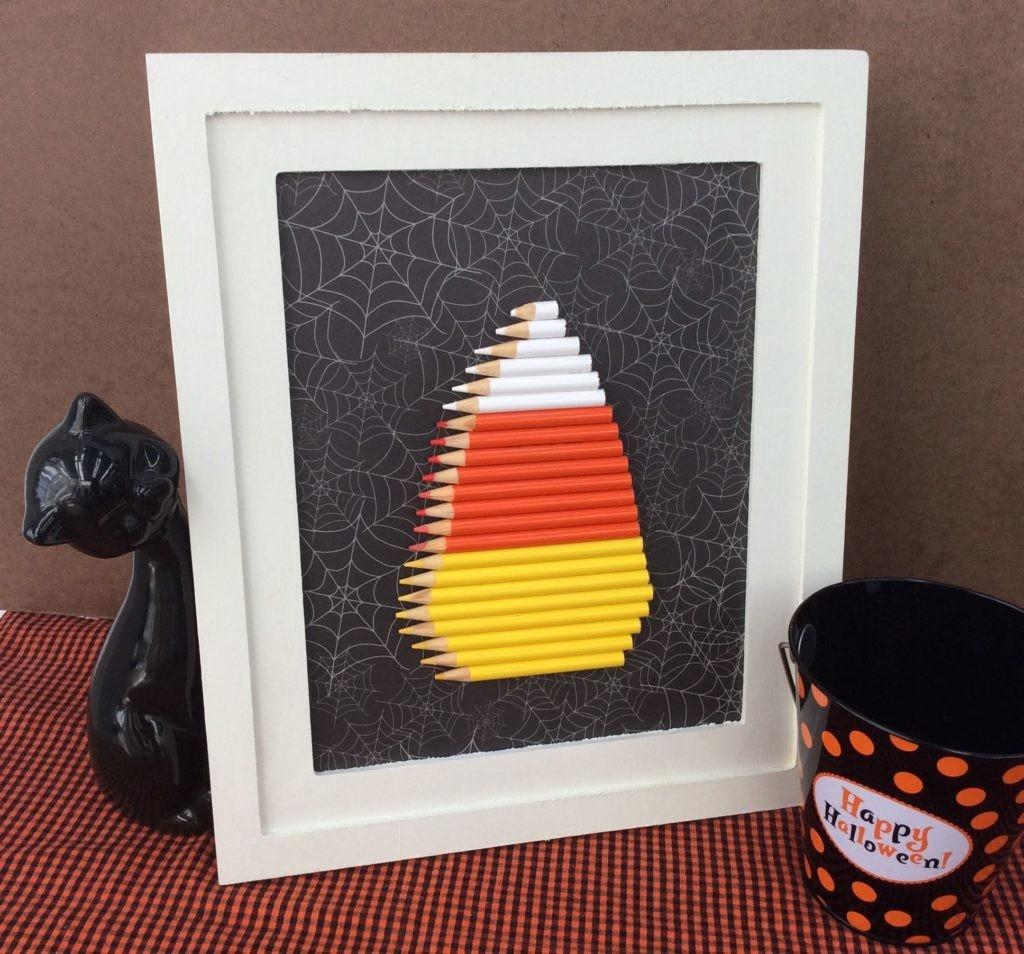 Recycled Craft Colored Pencil Candy Corn Halloween