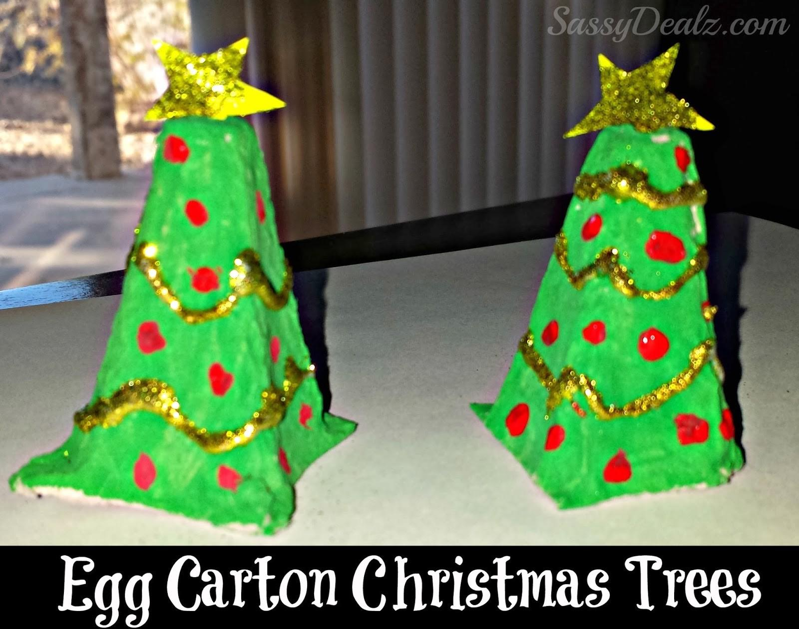 Recycled Egg Carton Christmas Tree Craft Kids Crafty