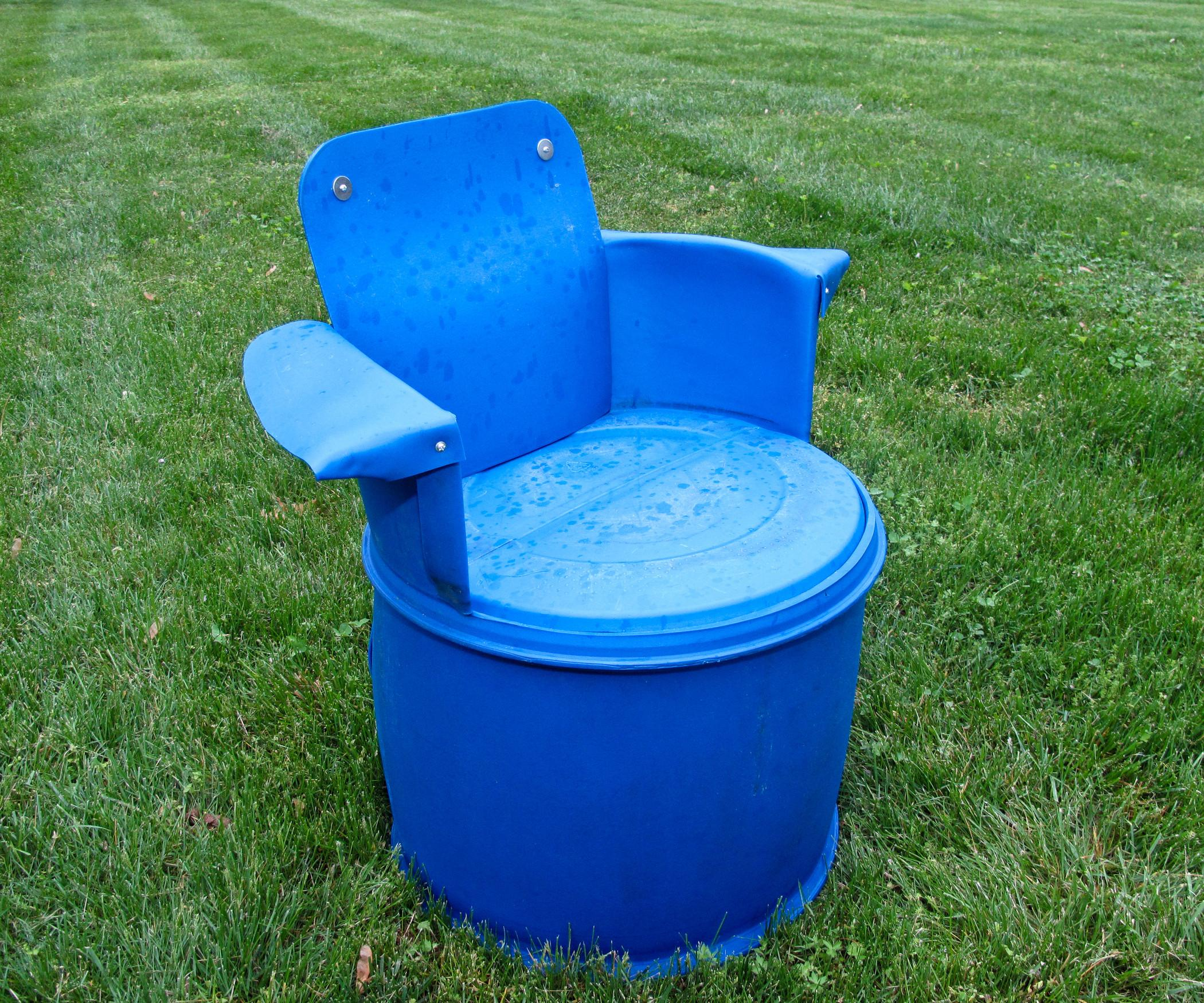Recycled Gallon Barrel Chair
