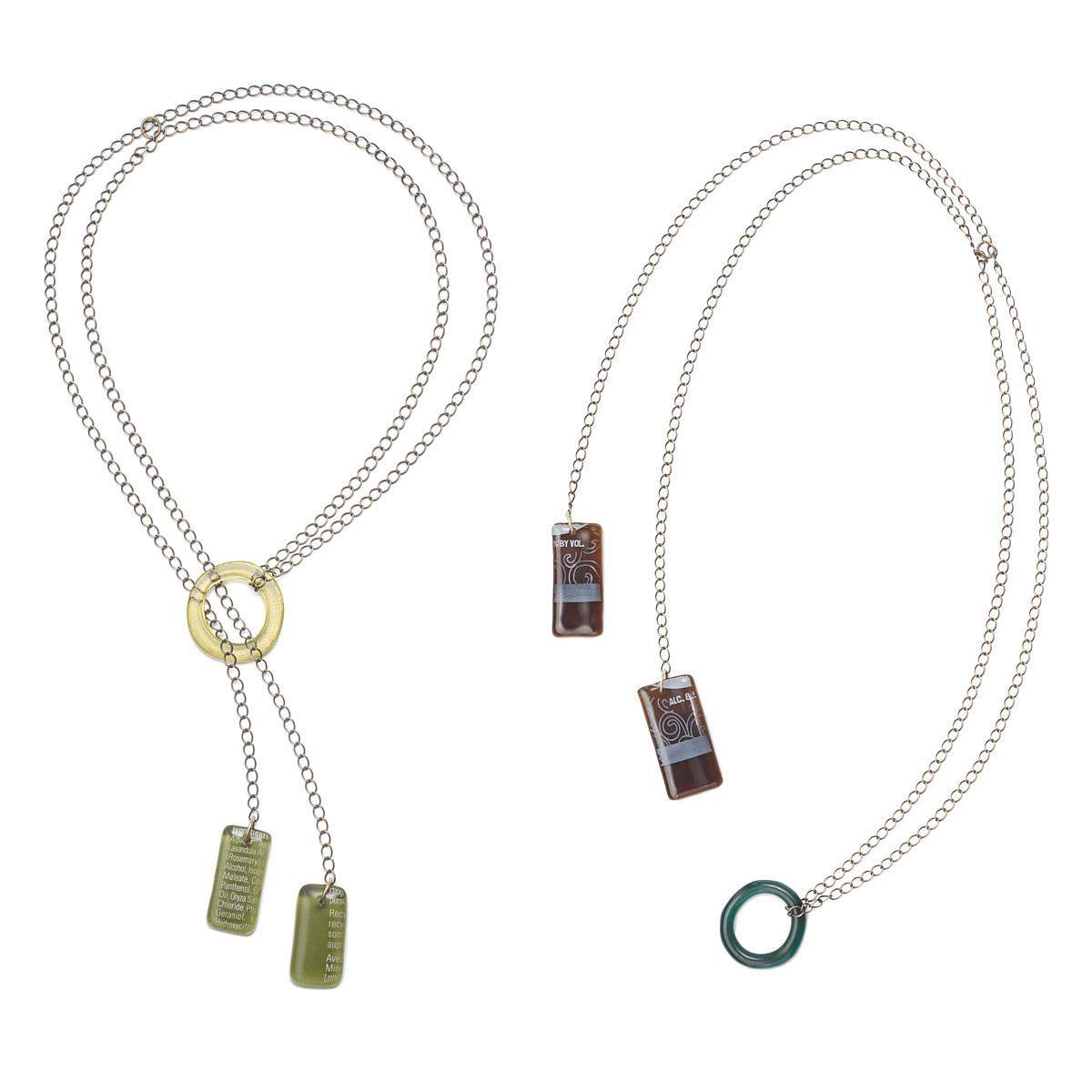 Recycled Glass Lariat Necklace Jewelry Smart