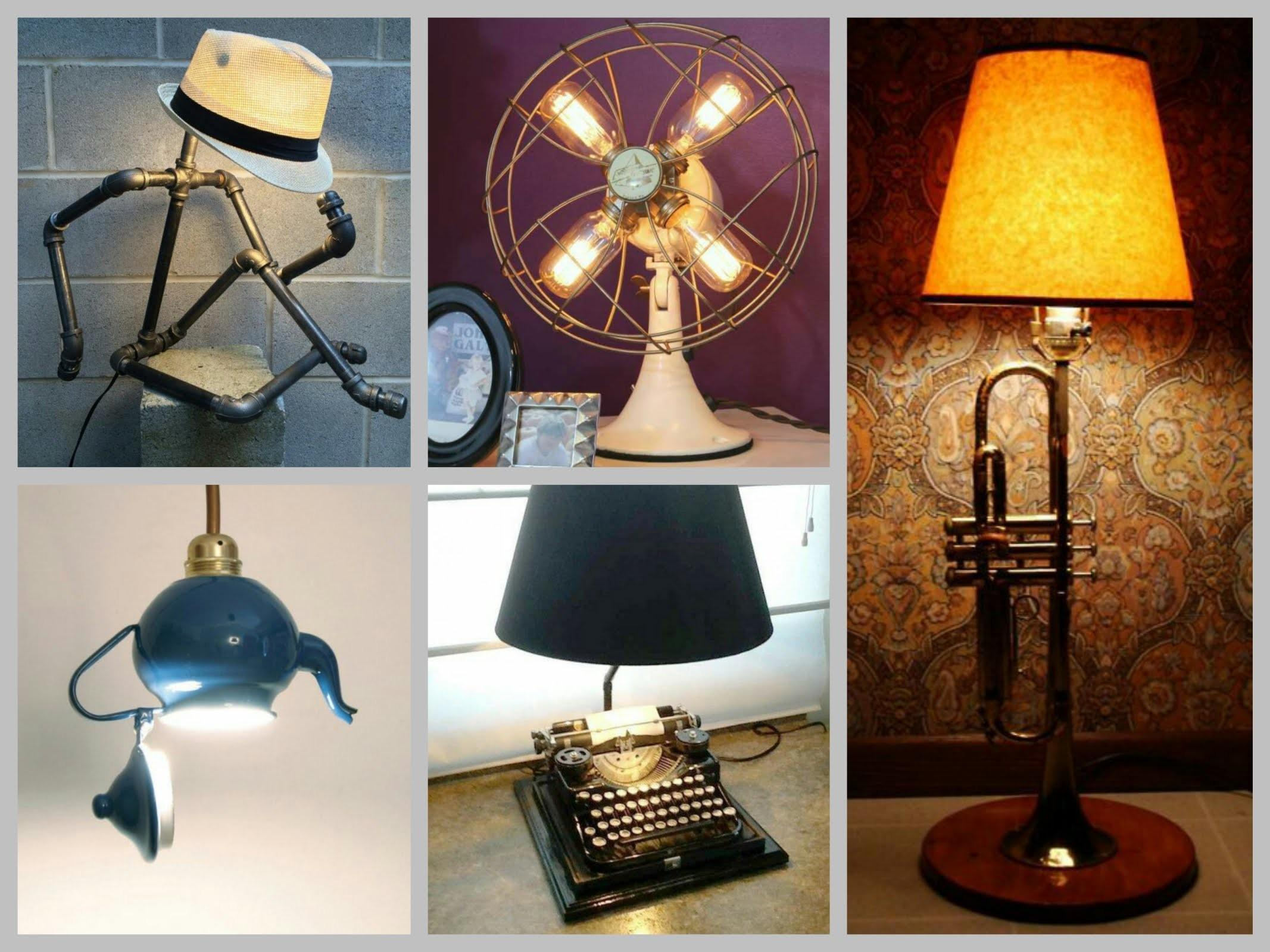 Recycled Lamp Ideas Trash Treasure Diy Projects