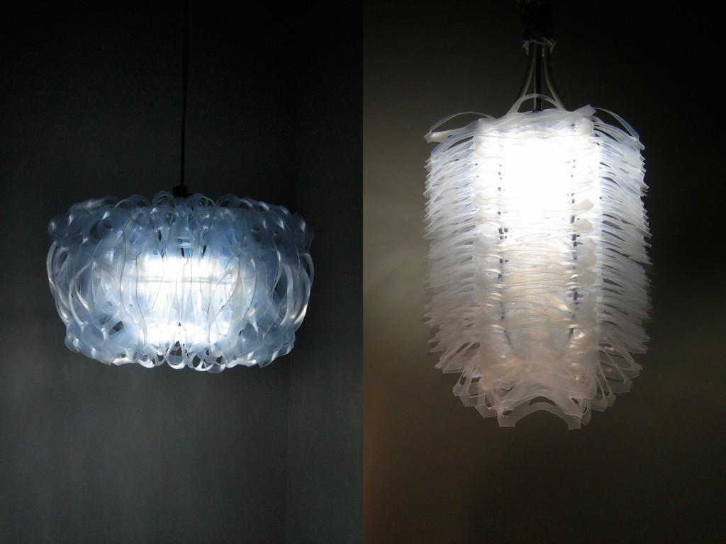 Recycled Six Pack Ring Chandeliers Turn Trash Into Lavish