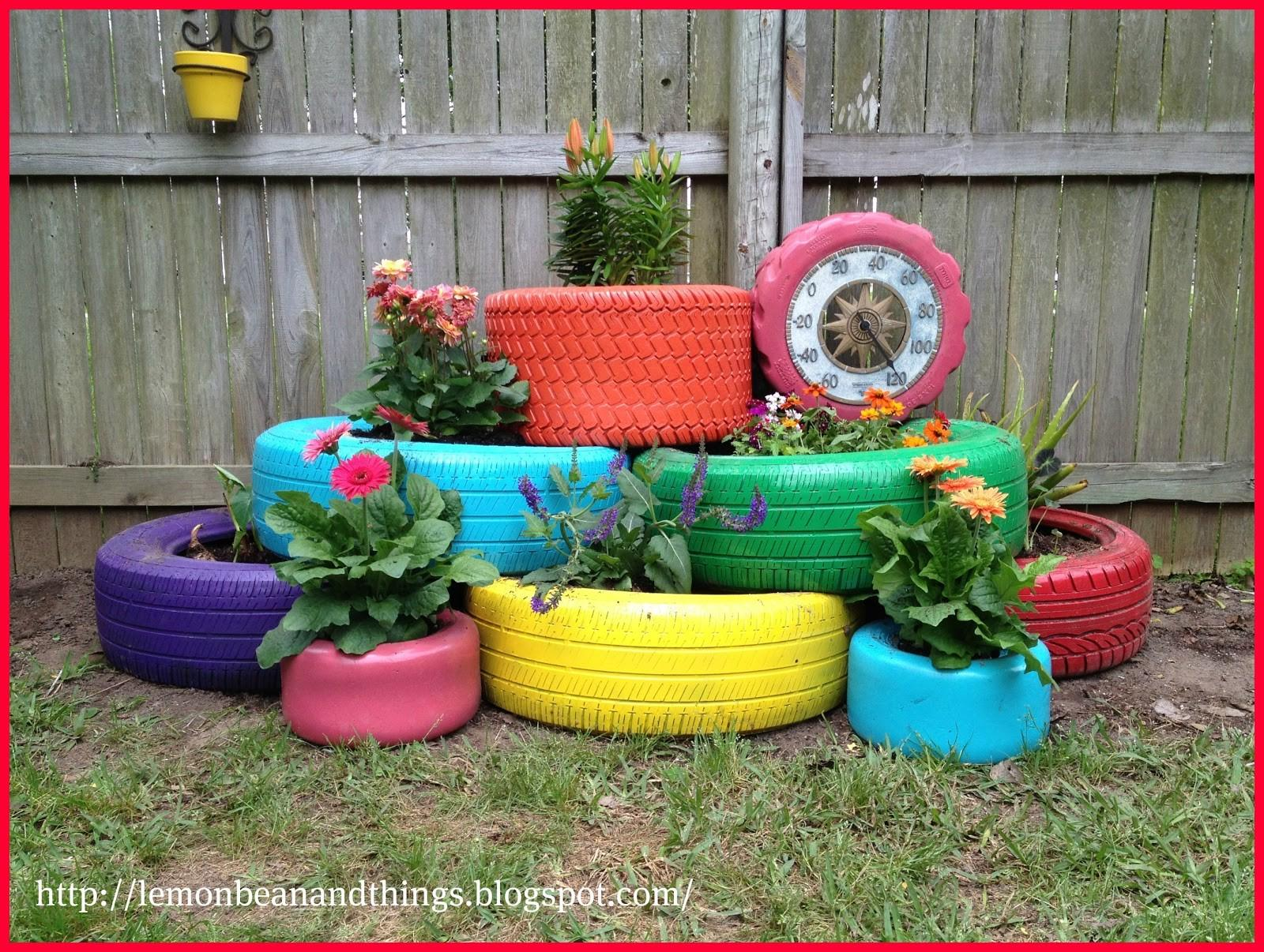 Recycled Tire Planter Thifty Sue