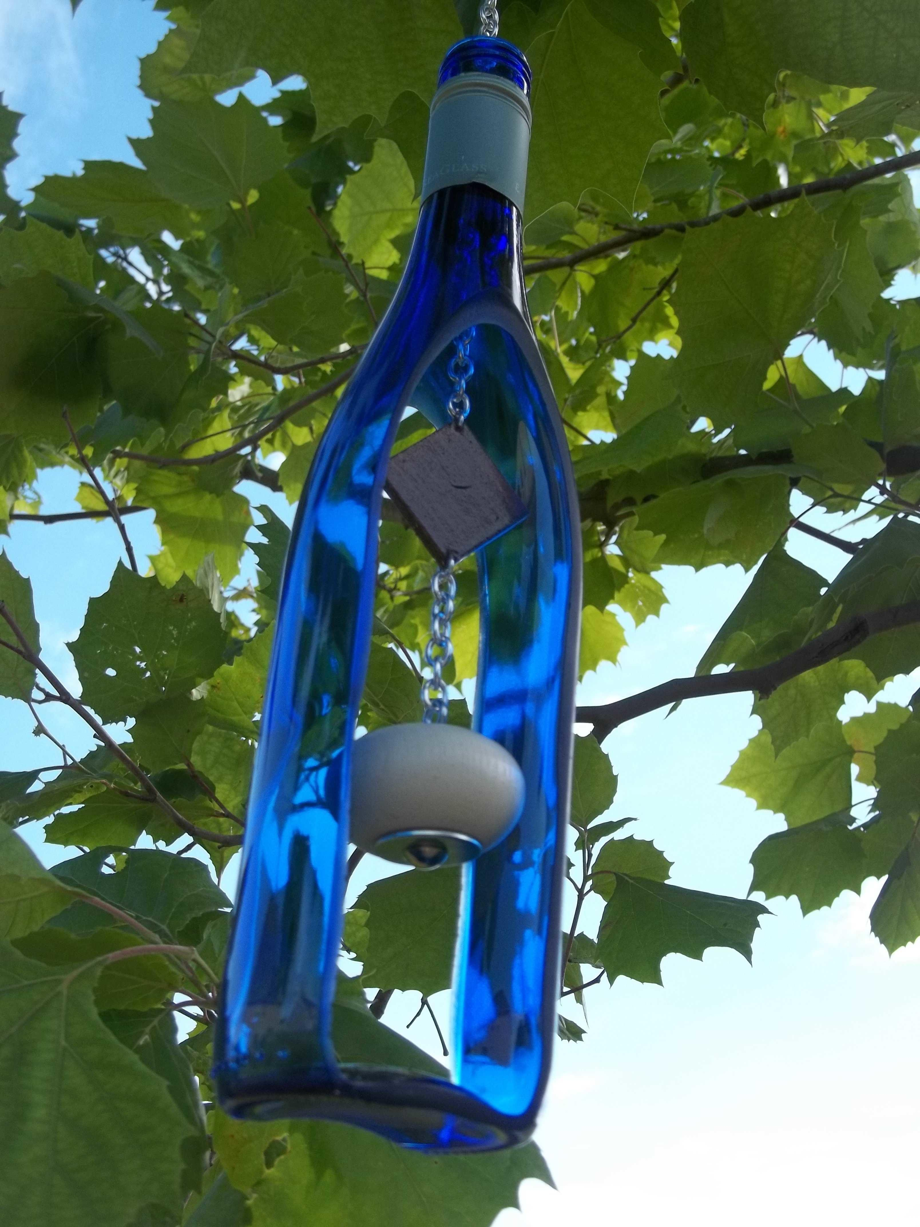 Recycled Wine Bottle Wind Chime Recyclart