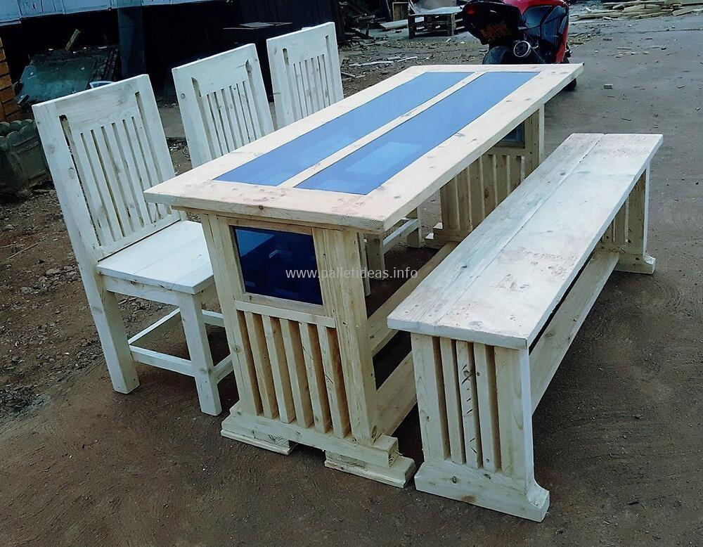 Recycled Wooden Pallets Seater Dining Set Pallet Ideas