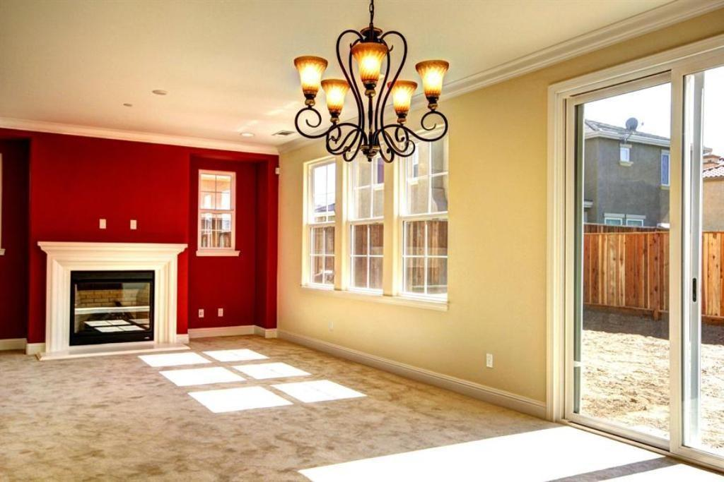 Red Accent Wall Color Pale Yellow Using