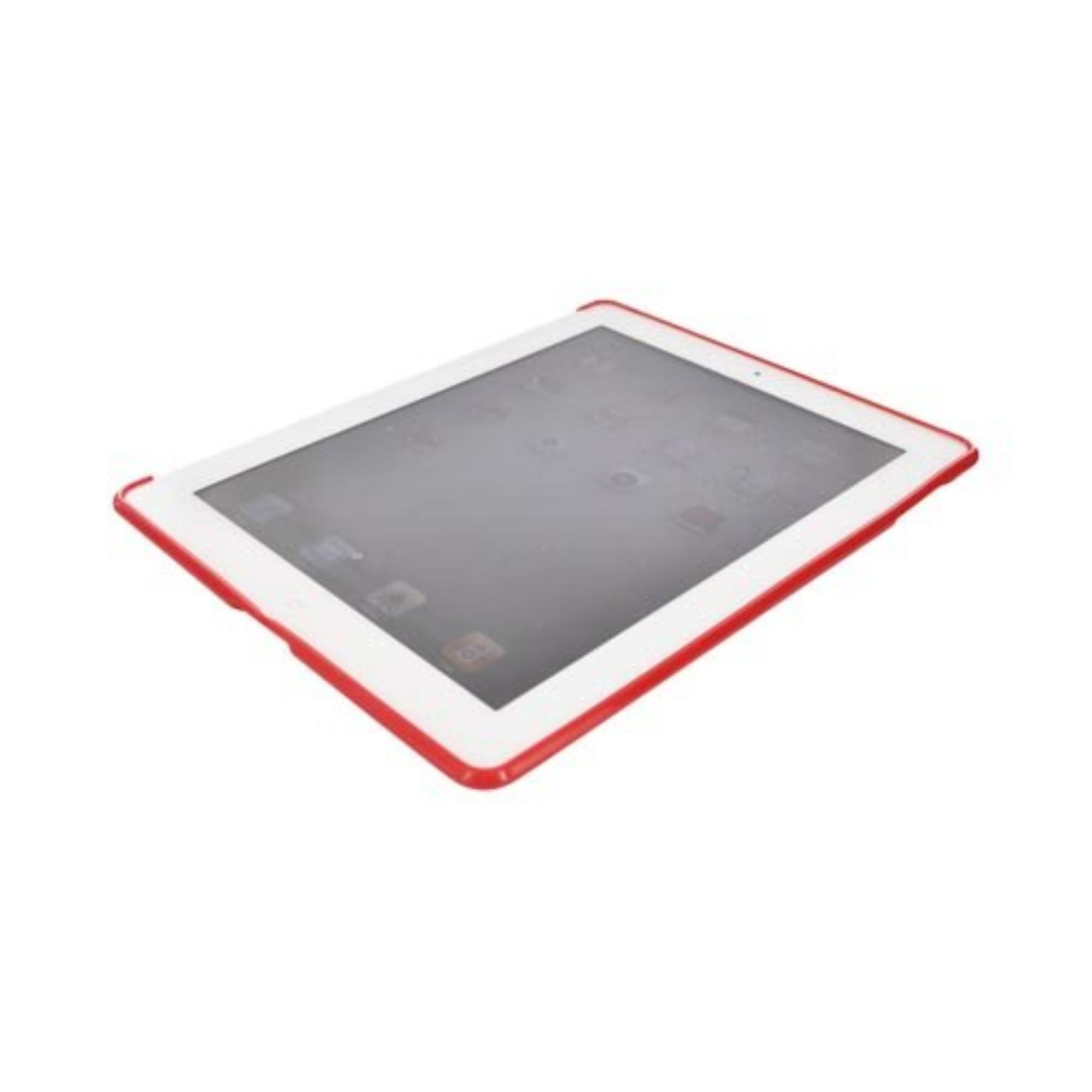 Red Apple Ipad Tpu Gel Case Cover Anti Slip Supports