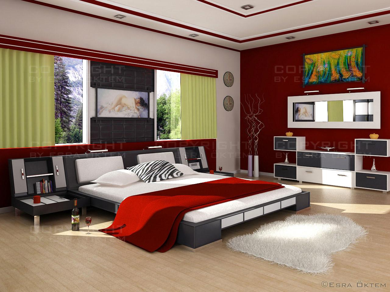 Red Bedroom Design Ideas Messagenote
