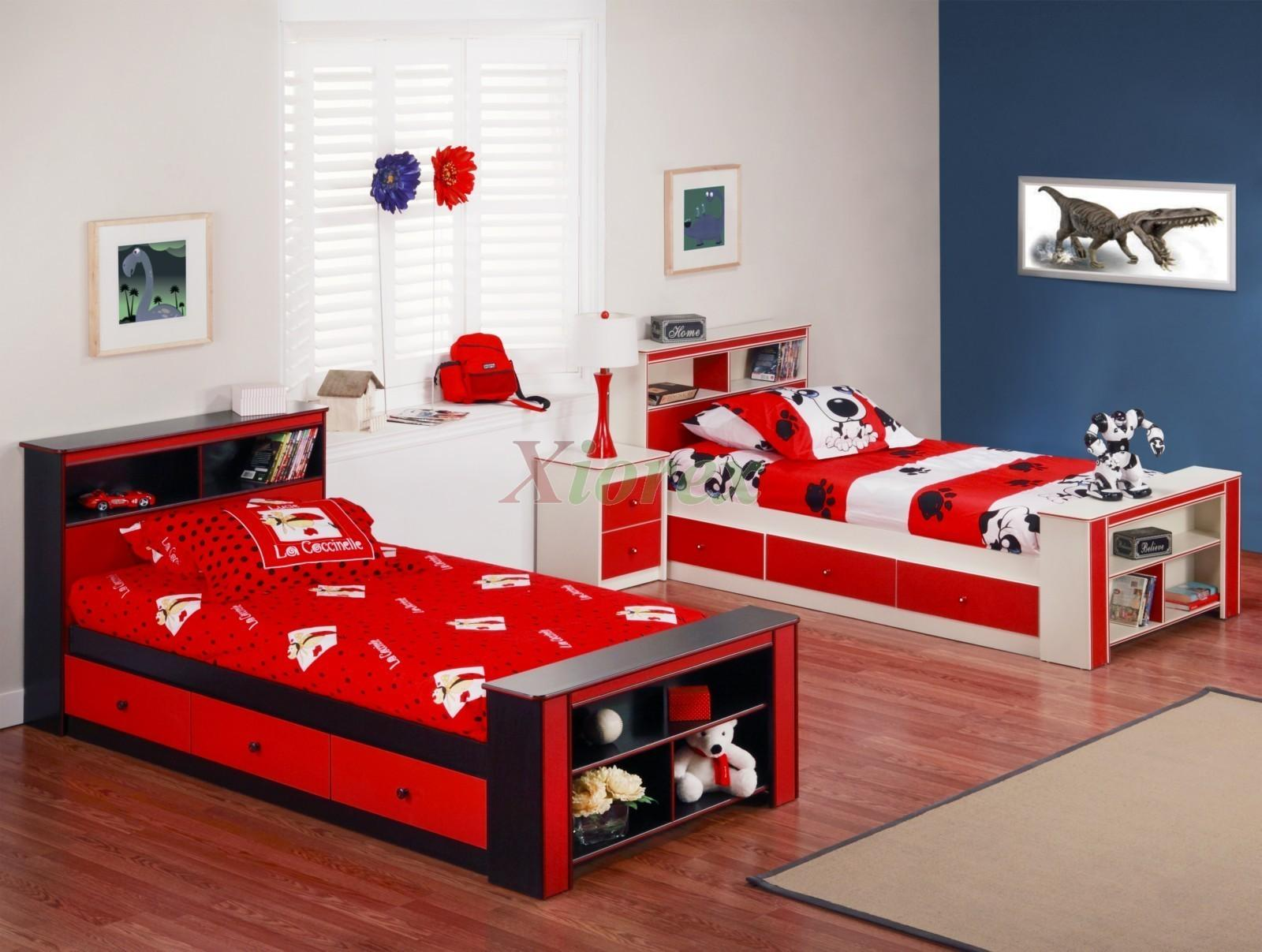 Red Bedroom Ideas White Decorating