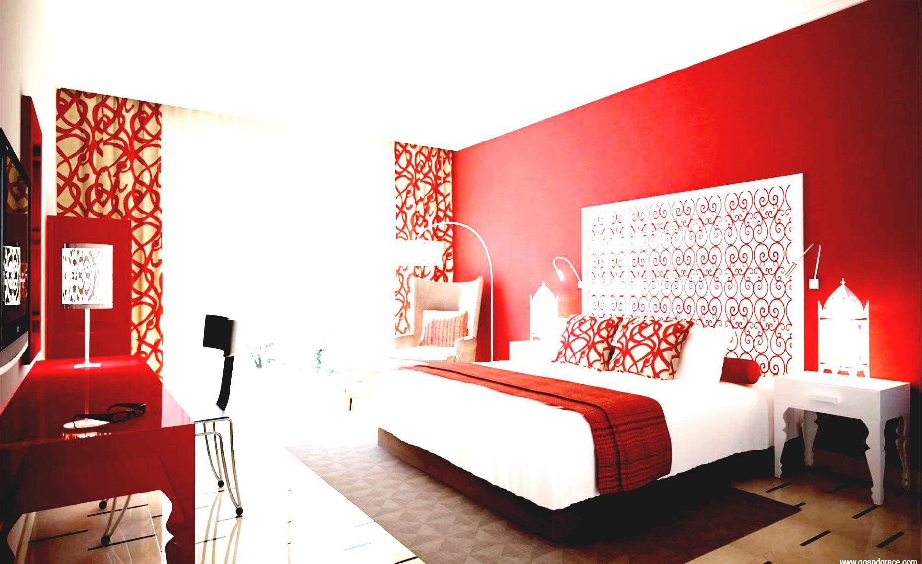 Red Bedrooms Decorating Ideas Attractive Design