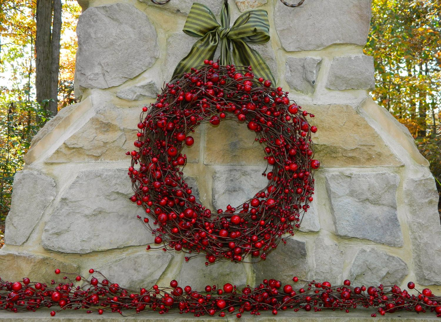 Red Berry Christmas Wreath Holiday