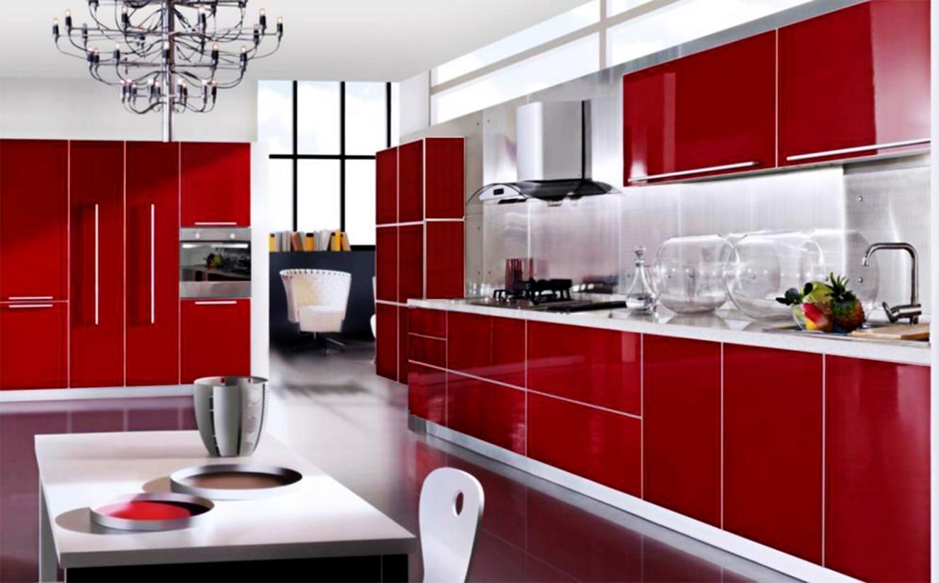 Red Cabinet Kitchen Cabinets Tjihome