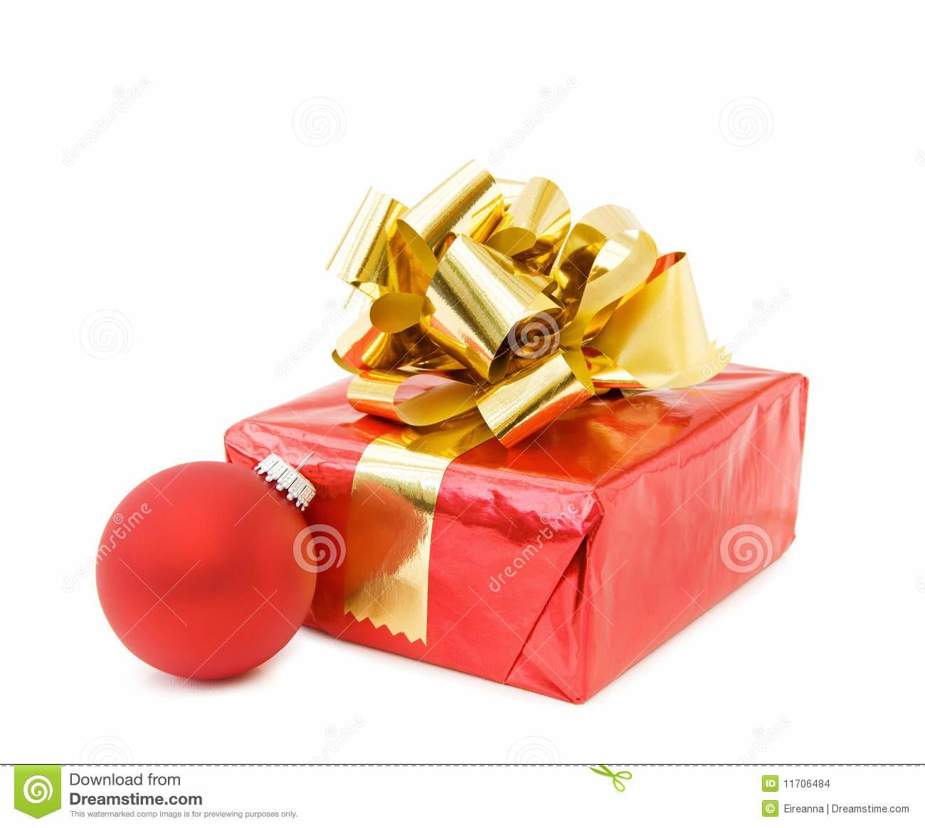 Red Christmas Bauble Gifts Stock Cartoondealer