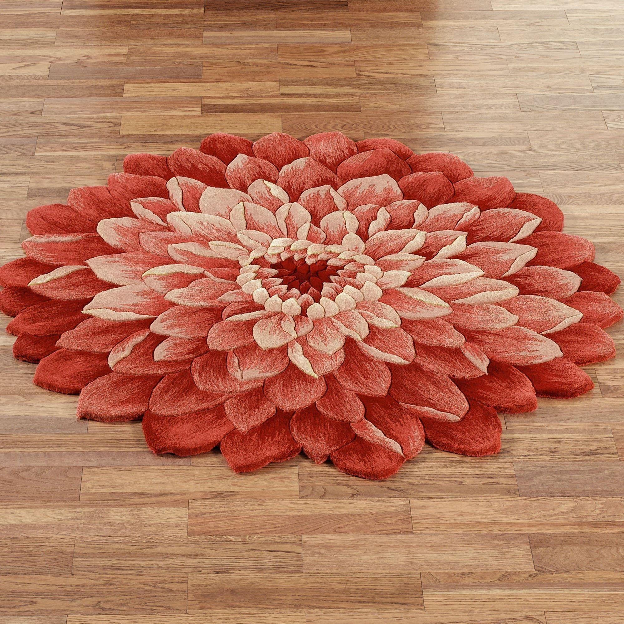 Red Flower Rug Rugs Ideas