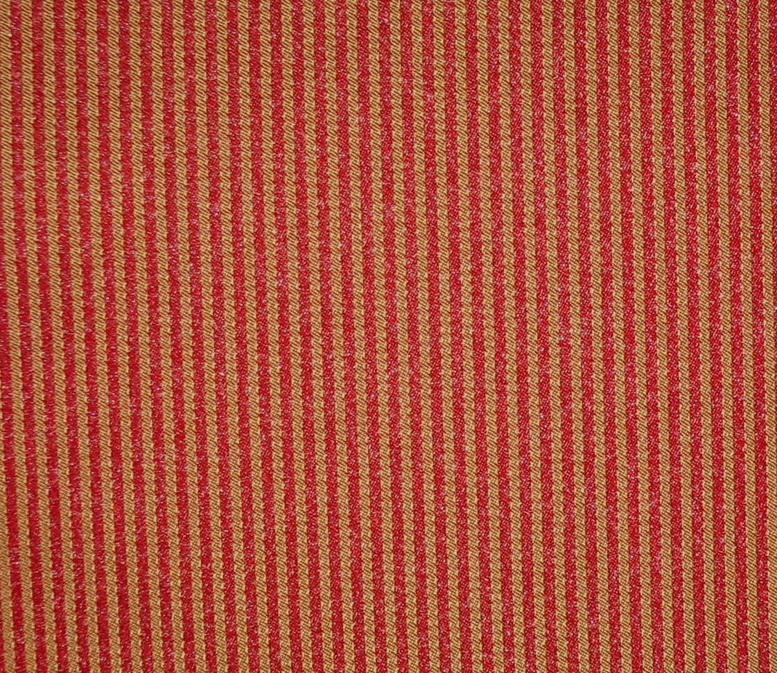 Red Gold Woven Jacquard Stripes Fabric Home