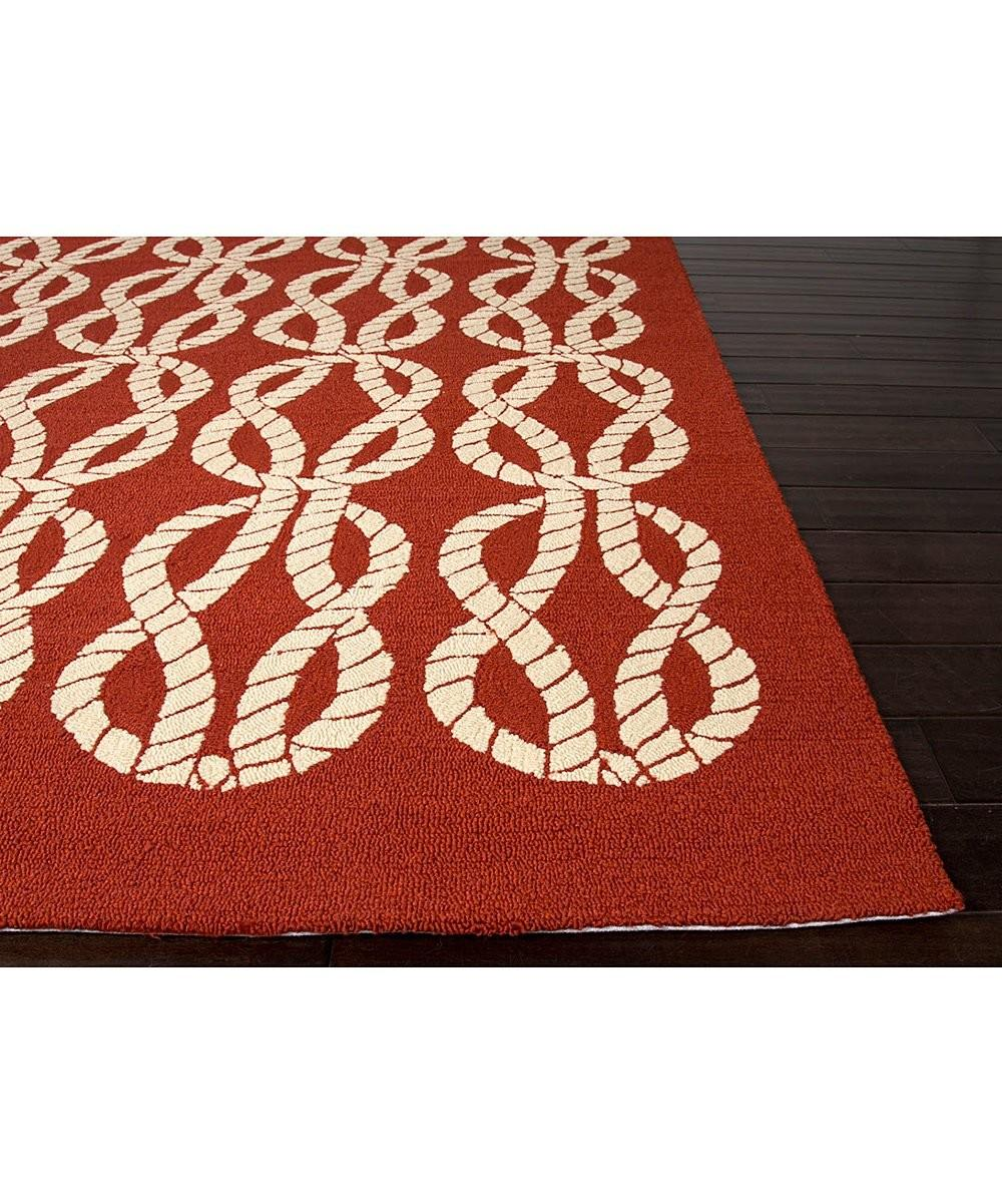 Red Ivory Rope Abstract Indoor Outdoor Rug Zulily