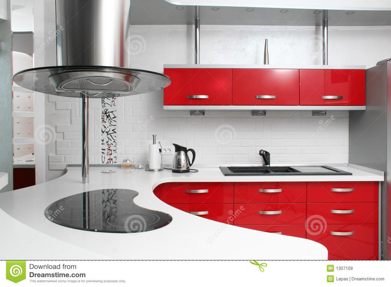 Red Kitchen Stock Metal Stainless House