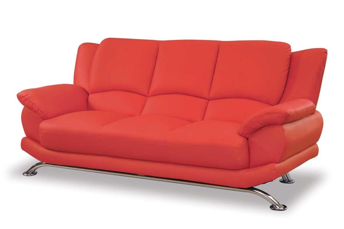 Red Leather Couch Frompo