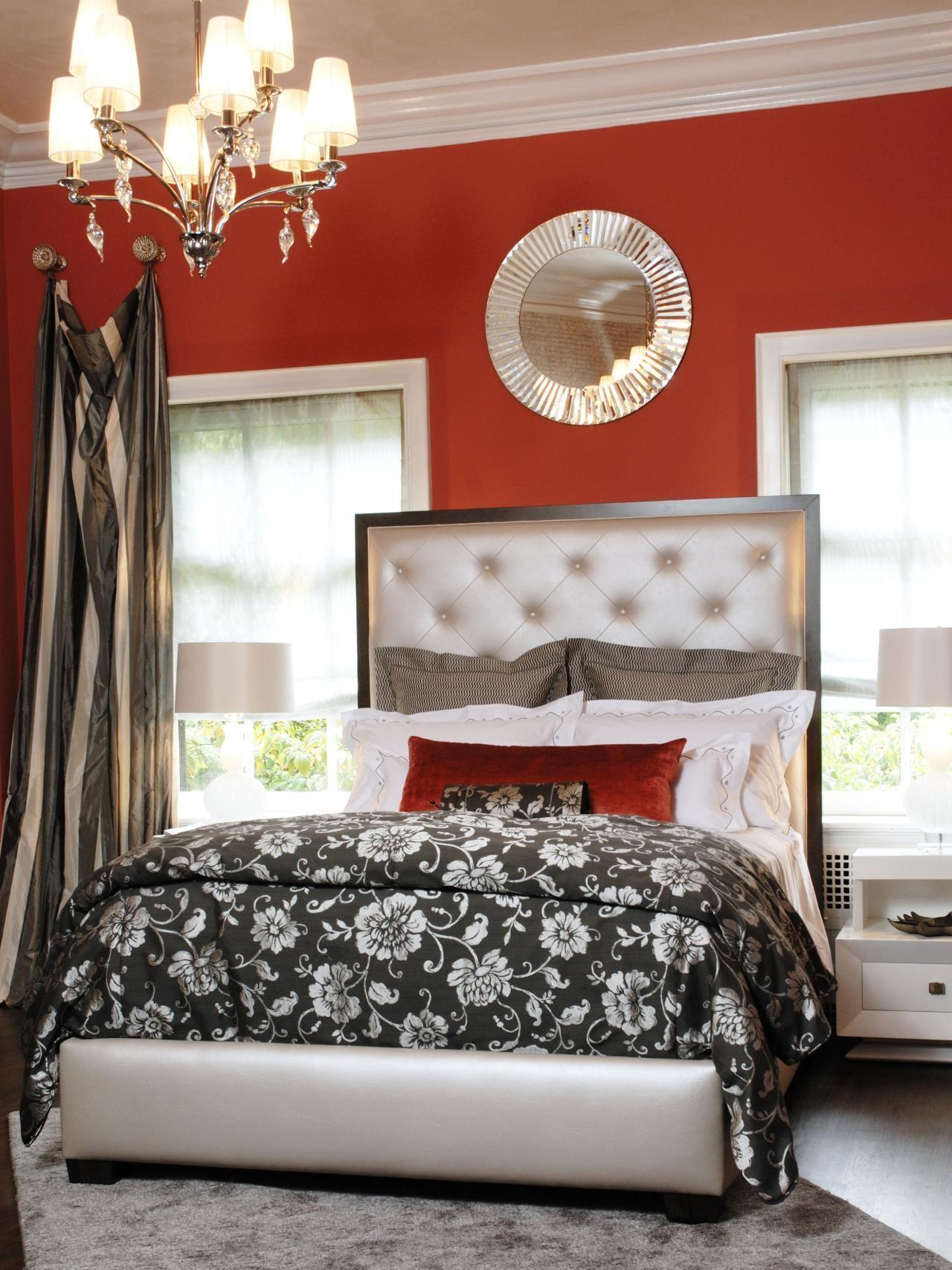 Red Master Bedroom Photos