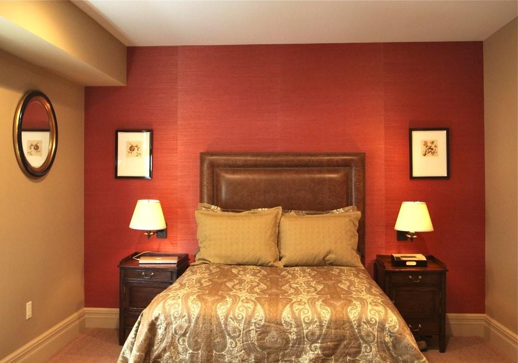Red Paint Color Living Room Feature Marvelou Wall