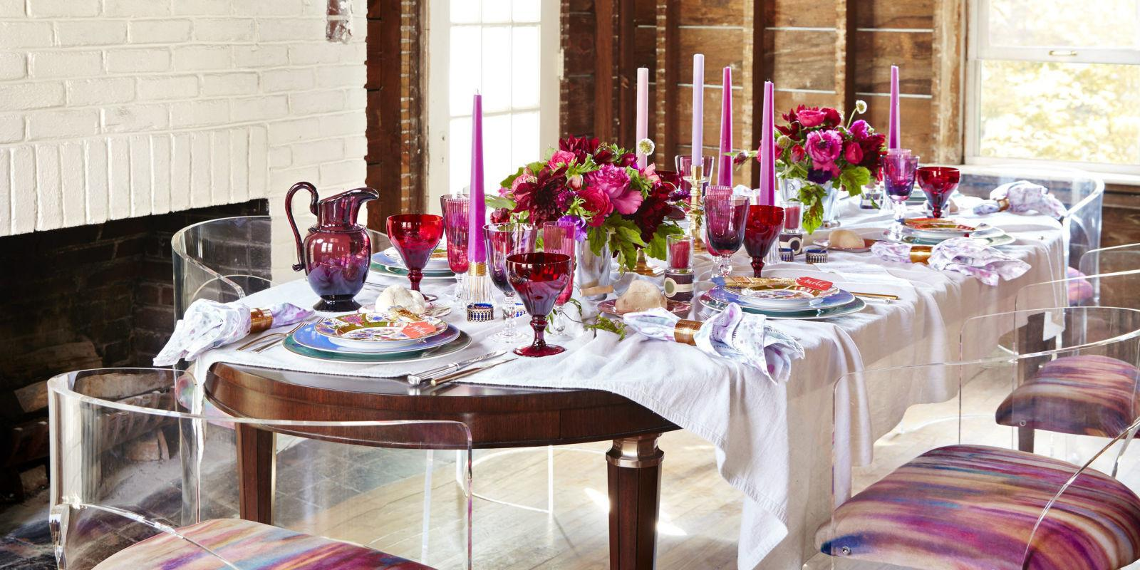 Red Pink Tablescape Eddie Ross Unusual Table