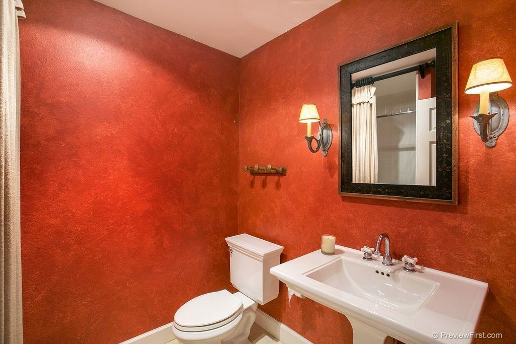 Red Powder Room Ideas 2018